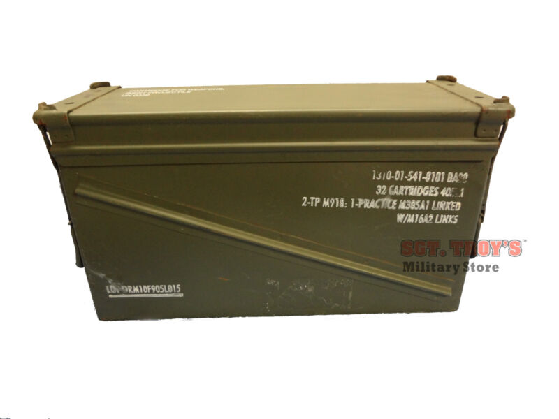 USGI 40mm AMMO CAN BA 20 100% STEEL LARGE AMMO CAN PA-120 Empty