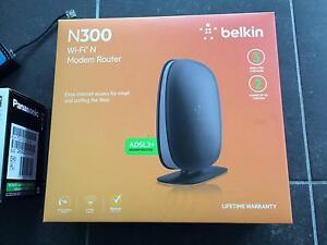BELKIN N300 ADSL2+ wireless modem router unused Potts Point Inner Sydney Preview