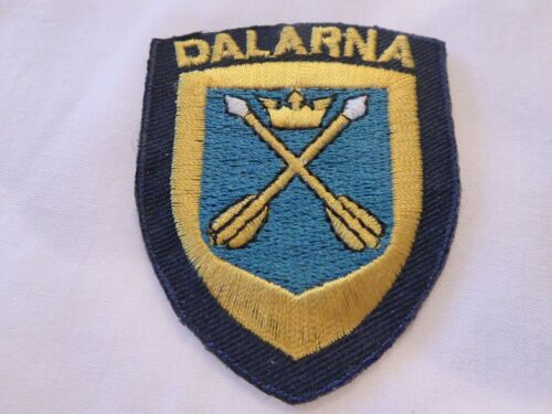 SWEDEN DALARNA UNIFORM EMBLEM PATCH, NEW UNUSED!