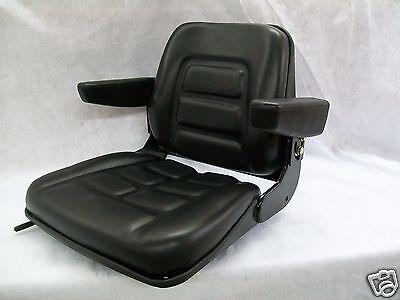 Universal Heavy Duty Seat W Arm Rests For Forkliftstelehandlerstractors Bj