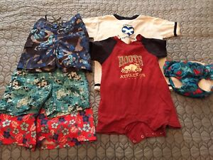 Size 18-24 Month Boys romper and swim trunks