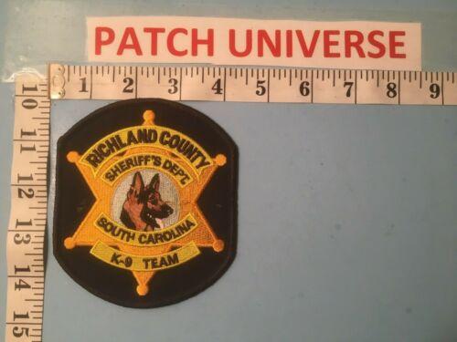 RICHLAND  COUNTY SHERIFF SC K9 TEAM  SHOULDER  PATCH  A036