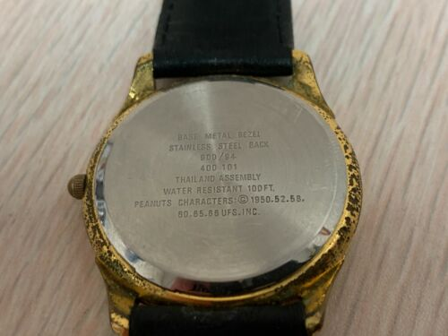 VINTAGE PEANUTS WATCH Armitron Quartz Linus Lucy Peppermint Patty Charlie Brown