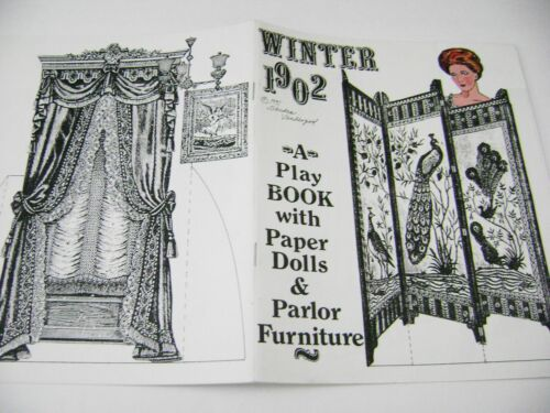 VTG PAPER DOLLS 1991 SANDRA VANDERPOOL 1902 WINTER PLAY BOOK GORGEOUS COLOR!!!!