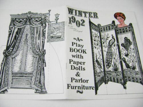 VTG PAPER DOLLS 1991 SANDRA VANDERPOOL 1902 WINTER PLAY BOOK GORGEOUS COLOR!!!!