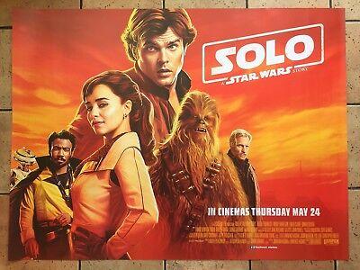 "Solo: A Star Wars Story (2018), Original UK Cinema Quad Poster 30""x40"""