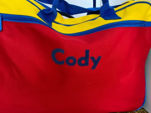 """Lillian Vernon Canvas Primary Personalized Suitcase Carryall """"Cody"""""""