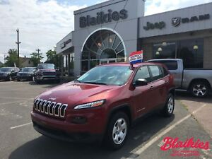 2017 Jeep Cherokee Sport | 4x4 | HEATED SEATS | ONE OWNER |