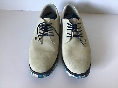 G/Fore Golf Shoes Men's Size 10 Suede Off White (SNOW)