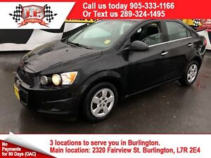 2012 Chevrolet Sonic LT, Automatic, Steering Wheel Controls,