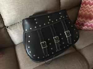 Leather Studded Saddlebags Cambridge Gardens Penrith Area Preview