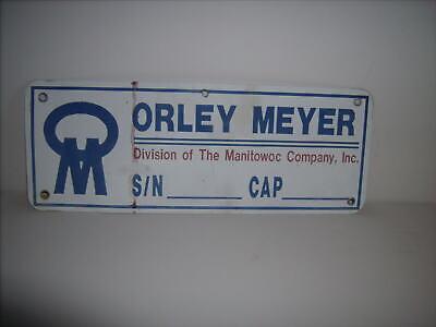 Orley Meyer Division Of The Manitowoc Company Ibc. Overhead Bridge Crane Sign.