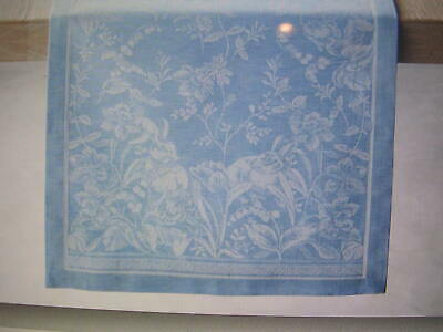 WILLIAMS SONOMA SPRING JACQUARD TABLE RUNNER 16 X 108 IN 52% COTTON 48% LINEN NW