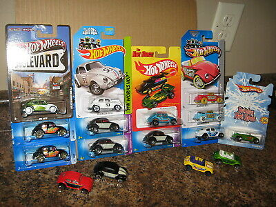 Hot Wheels Lot of 16 Volkswagen VW Bug Beetle Variation Hot Ones Convertible