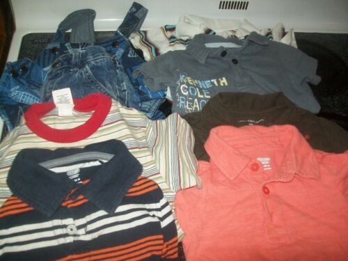 Pre-owned Guc 8 Pc Lot Of Baby Boy Clothes 0-3, 3-6 & 9 Mnths Look Name Brands