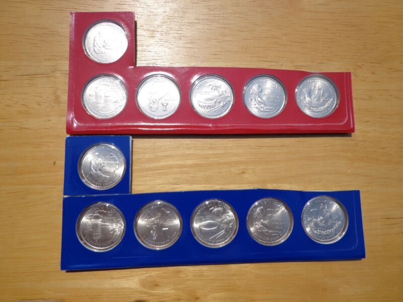 2009 P & D DC & US Territories Quarter 12 Coin Set Lot Sealed Mint Cello