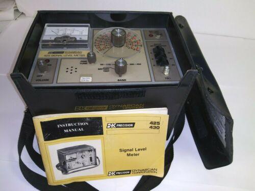 Vtg B & K-Precision Model 425 & 430 Signal Level Meter Dynascan Corporation