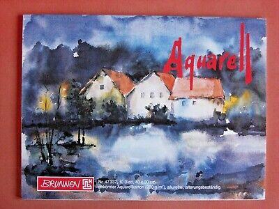 Aquarellmalblock ca. DIN A3 Aquarellkarton weiß Aquarellpapier Aquarellblock