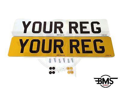 Set Of Car Number Plates DVLA / MOT Legal UK Front & Rear With Free Postage