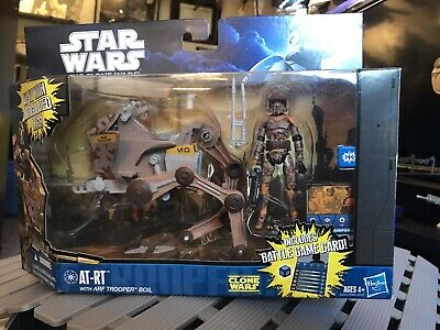 """Star Wars The Clone Wars AT-RT with 3.75"""" ARF Trooper Boil action figure NEW"""