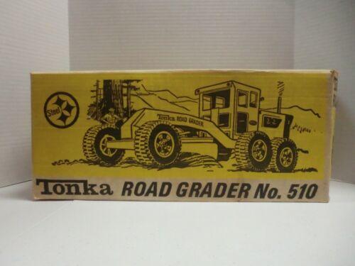 VINTAGE TONKA ROAD GRADER W/BOX  NO. 510 METAL EXCELLENT CONDITION (B) U.S.