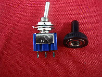 Lot Of 10 Spdt Miniature Toggle Switches On-off-on Maintained Water Proof
