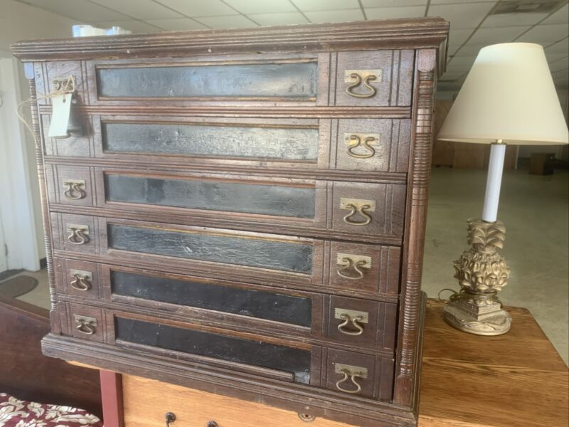 Antique 6-drawer Spool Cabinet J.S. P. Coats  country store cabinet !