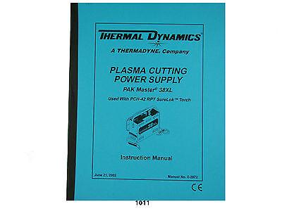 Thermal Dynamics Pakmaster 38 Xl Plasma Cutter T Instruction Manual 1011