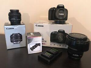 Canon T7i (800D) BUNDLE 3 lenses + accessories