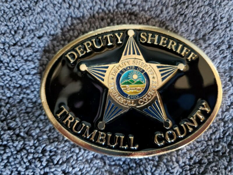 Custom made ohio, Sheriff belt buckle. MADE IN USA.