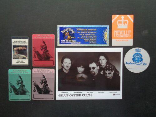 BLUE OYSTER CULT,Original B/W Promo photo, 6 Backstage passes,concert ticket
