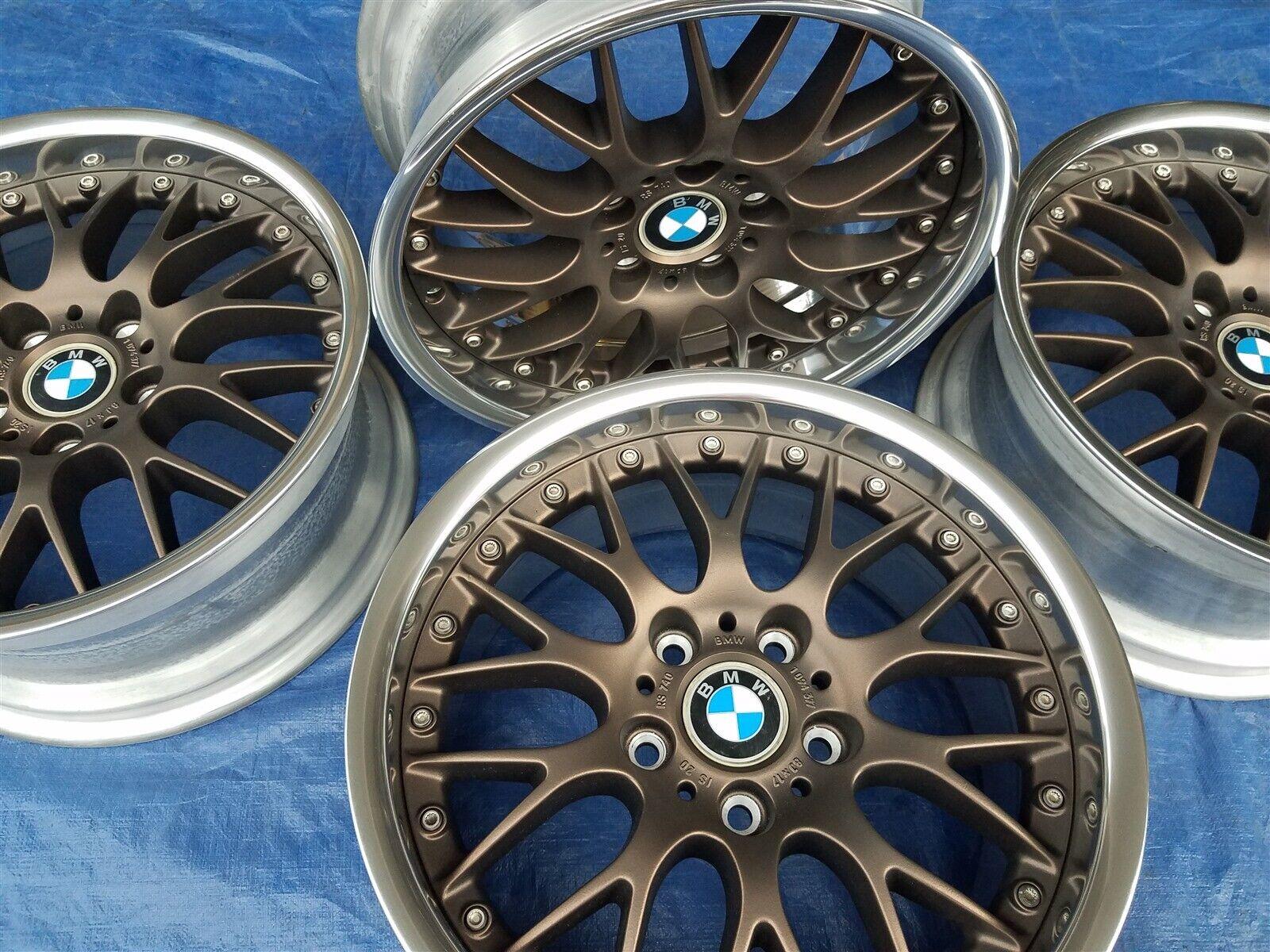 BMW E28 M5 E24 M6 E30 M3 E39 530 OEM BBS RS740 Style 42 17x8 Wheels Rims BRONZE!