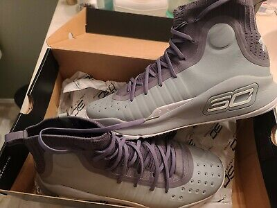🏀 Under Armour UA CURRY 4 BASKETBALL SHOES MEN'S SIZE 12.5 GRAY 1298306-107