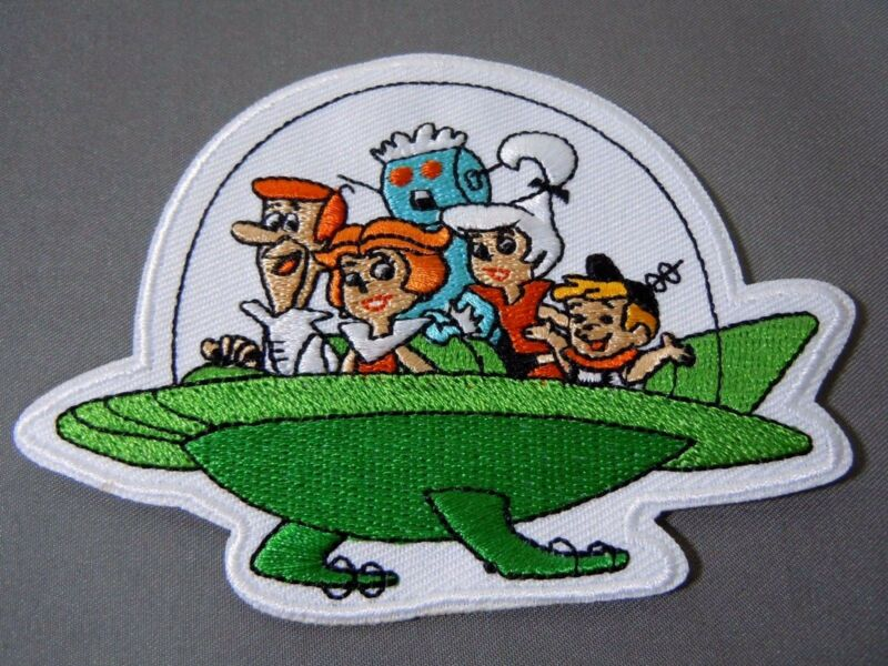 """THE JETSONS Family Embroidered Iron-On Patch - 3.75"""" x 2.75"""""""