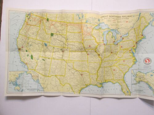 Great Northern Railway Map of the United States 1957