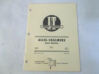 It Shop Service Allis-chalmers 7030 7040 7050 7060 7080 Shop Manual