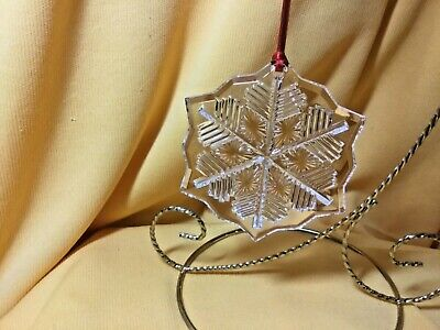 Waterford Crystal  2014 Marquis Christmas Tree Snowflake Ornament