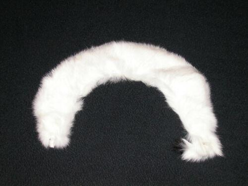Antique Vtg Authentic Baar & Beards Real White Mink Fur Collar Coat W/ Clasp