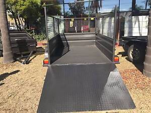 8X5 HI SIDE HEAVY DUTY WITH RAMP &600MM CAGE FITTED ONLY 1990 Smithfield Parramatta Area Preview