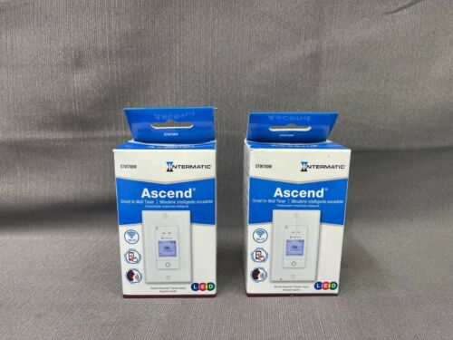 (2) PC - Intermatic Ascend Smart In-Wall Timer STW700W (NEW)