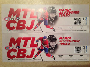 billets canadiens vs columbus