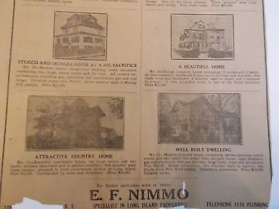 1910 Flushing Nimmo Real Estate Queens Nyc New York City Li 10X16 Mounted