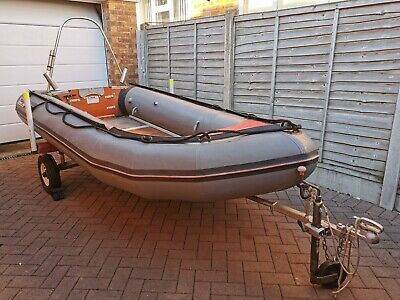 Avon Supersport S3-40 Inflatable Boat SIB not RIB with trailer. Good Condition