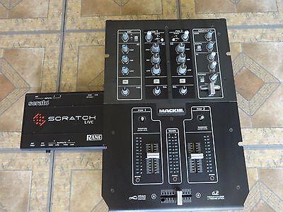 MACKIE D2 PRO TWO CHANNEL DJ MIXER WITH BONUS SERATO SL INTERFACE BOX Mackie Dj Mixers