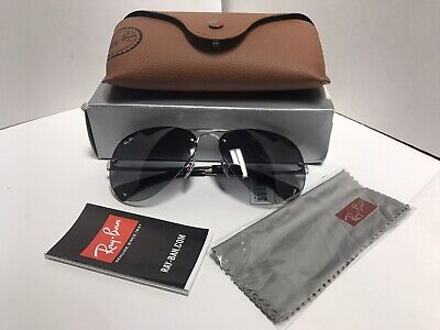Ray-Ban sunglasses RB3449 59MM Semi Rimless Aviator Sunglasses - (59mm Semi Rimless Aviator Sunglasses)