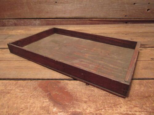 Vintage Wood Tray For Files JEWELRY COINS Etc