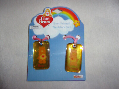Care Bears Best Friends Dog Tag Style Childs Necklace Pendant on Pink Suede (Best Child Friendly Dogs)
