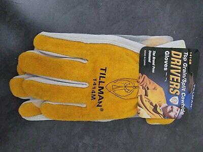 Tillman 1414m Drivers Gloves Medium Split Cowhide With Tags