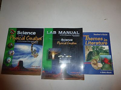 Used, Abeka 9th grade Science of the Physical Creation Textbook & Lab Manuals for sale  San Andreas