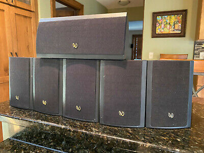 Infinity Minuette MPS 5 Satellite Speakers With Center Channel TESTED WORKS